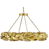 Currey & Company 9000-0515 Apollo 28 Light 51 inch Contemporary Gold Leaf/Painted Gold Chandelier Ceiling Light