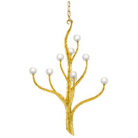 Currey & Company 9000-0517 Loucinda 9 Light 22 inch Contemporary Gold Leaf Chandelier Ceiling Light Small