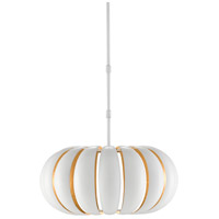 Currey & Company 9000-0519 Blanchette 1 Light 20 inch Sugar White/Painted Gold Pendant Ceiling Light Hiroshi Koshitaka Collection