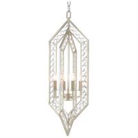Currey & Company 9000-0527 Mazurka 4 Light 10 inch Contemporary Silver Leaf Chandelier Ceiling Light