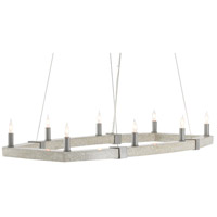 Currey & Company 9000-0528 Bannerman 8 Light 40 inch Hiroshi Gray/Polished Concrete Chandelier Ceiling Light