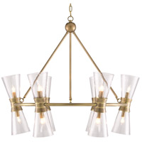 Currey & Company 9000-0539 Quennell 12 Light 37 inch Antique Brass Chandelier Ceiling Light