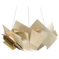 Currey & Company 9000-0549 Artiste 3 Light 33 inch Silver Leaf Chandelier Ceiling Light
