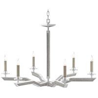 Currey & Company 9000-0566 Bourree 6 Light 32 inch Silver Ice Chandelier Ceiling Light