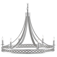 Currey & Company 9000-0567 Gavotte 6 Light 27 inch Silver Ice Chandelier Ceiling Light