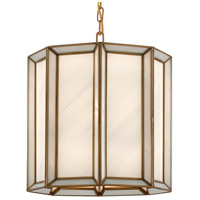 Currey & Company 9000-0574 Daze 1 Light 12 inch Antique Brass/White Pendant Ceiling Light
