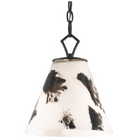 Currey & Company 9000-0577 Peppard 1 Light 10 inch Black/White Pendant Ceiling Light
