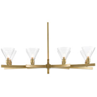 Currey & Company 9000-0581 Bickford 8 Light 36 inch Antique Brass Chandelier Ceiling Light Bunny Williams Collection