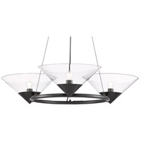 Currey & Company 9000-0583 Maisonette 3 Light 42 inch Oil Rubbed Bronze Chandelier Ceiling Light