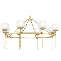 Currey & Company 9000-0584 Montview 8 Light 44 inch Brushed Brass Chandelier Ceiling Light