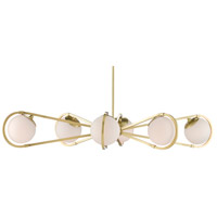 Currey & Company 9000-0585 Montvale 6 Light 48 inch Brushed Brass Chandelier Ceiling Light