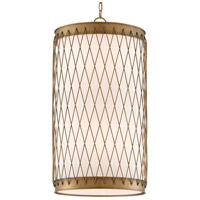 Currey & Company 9000-0590 Rigadoone 8 Light 17 inch Painted Antique Brass Chandelier Ceiling Light