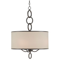 Currey & Company 9000-9108 Brownlow 4 Light 24 inch Bronze Gold Pendant Ceiling Light Large