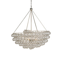 Currey & Company Stratosphere 4 Light Chandelier in Contemporary Silver Leaf 9002