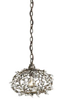 Currey & Company Dream 1 Light Pendant in Cupertino 9003