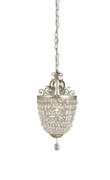 Currey & Company Bettina 1 Light Pendant in Silver Leaf 9004