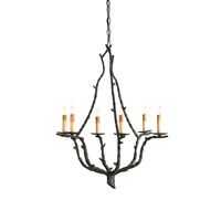 Currey & Company Soothsayer 6 Light Chandelier in Rustic Bronze 9006