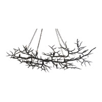 Currey & Company Rainforest 14 Light Chandelier in Rustic Bronze 9007