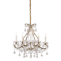 Paramour 5 Light 19 inch Smoke Gold Chandelier Ceiling Light