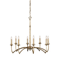 Mainstay 8 Light 31 inch Antique Silver Leaf Chandelier Ceiling Light