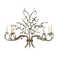 Currey & Company 9021 Raintree 6 Light 18 inch Viejo Gold / Viejo Silver Chandelier Ceiling Light