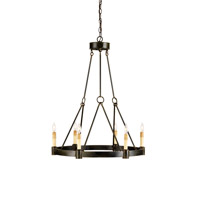 Currey & Company Chantelaine 6 Light Chandelier in Old Iron 9022