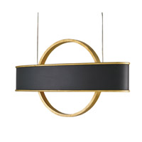 Currey & Company Newgate 4 Light Chandelier in Antique Gold Leaf and Satin Black 9029