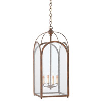 Currey & Company Loggia 4 Light Lantern in Rustic Gold 9035