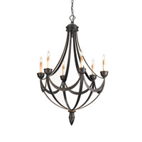 Currey & Company Palomino 6 Light Chandelier in Bronze Gold 9042