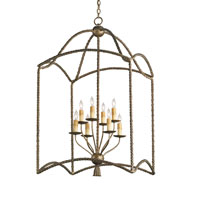Currey & Company Bamburgh 8 Light Hanging Lantern in Nevo Oro Antico 9043