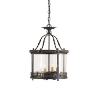Currey & Company Grayson 4 Light Ceiling Lantern in French Black 9045