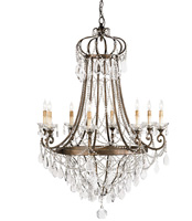 Currey & Company Scarlett 8 Light Chandelier in Cupertino 9047 photo thumbnail