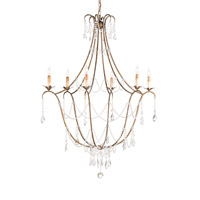 Currey & Company Elizabeth 6 Light Chandelier in Rhine Gold 9048