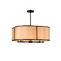 Currey & Company Linley 8 Light Pendant in French Black 9050