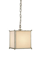Currey & Company Weymouth 1 Light Pendant in Silver Leaf 9053