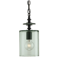 Currey & Company Panorama 1 Light Pendant in Satin Black 9060