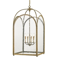Loggia 4 Light 24 inch Rustic Gold Lantern Ceiling Light