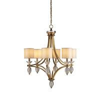 Currey & Company Sebastian 6 Light Chandelier in Coffee Bronze/Clear Crystal 9081