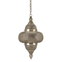 Tangiers 1 Light 12 inch Nickel & Copper/Lacquer/Amber Pendant Ceiling Light