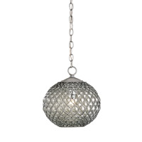 Currey & Company Pinto 1 Light Pendant in Gun Metal/Chrome 9109