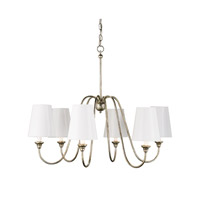 Currey & Company Orion 6 Light Chandelier in Silver Leaf 9110