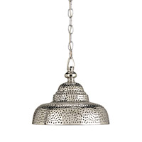Currey & Company Lowell 1 Light Pendant in Nickel 9114
