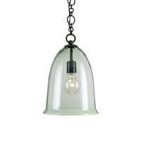 Currey & Company Harper 1 Light Pendant in Old Iron/Recycled Glass 9122