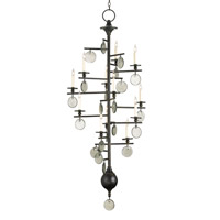 Currey & Company Sethos 12 Light Chandelier in Old Iron/Recycled Glass 9125