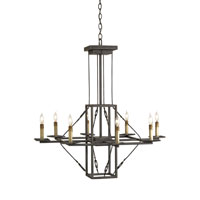 Currey & Company Basildon 8 Light Chandelier in Hiroshi Gray 9144