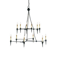 Danielli 12 Light 36 inch French Black Chandelier Ceiling Light