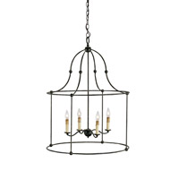 Currey & Company 9160 Fitzjames 4 Light 25 inch Mayfair Lantern Ceiling Light