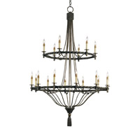 Priorwood 18 Light 40 inch Pyrite Bronze Chandelier Ceiling Light