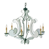 Currey & Company Bellamour 6 Light Chandelier in Old Iron/Light Antique 9187