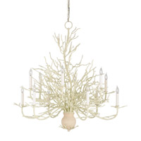Seaward 12 Light 39 inch White Coral/Natural Sand Chandelier Ceiling Light